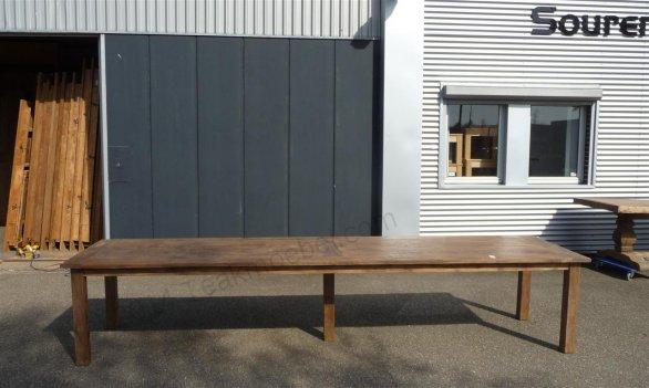 Teak Tisch altes Holz 400 x 100 cm - Bild 6