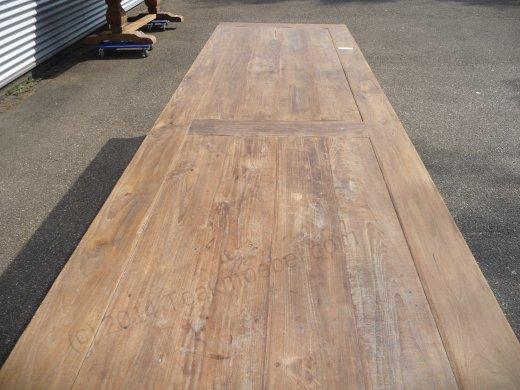 Teak Tisch altes Holz 400 x 100 cm - Bild 1
