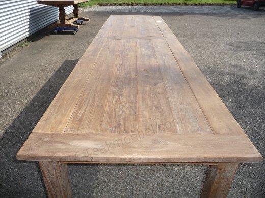 Teak Tisch altes Holz 400 x 100 cm - Bild 2
