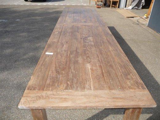 Teak Tisch altes Holz 400 x 100 cm - Bild 8
