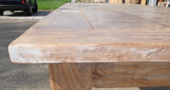 Teak Tisch altes Holz 400 x 100 cm - Bild 3