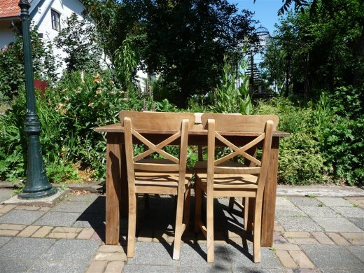 Teak Tisch aus altem Holz 120 x 80 cm - Bild 8