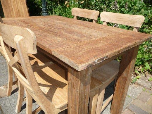 teak tisch aus altem holz 120 x 80 cm. Black Bedroom Furniture Sets. Home Design Ideas