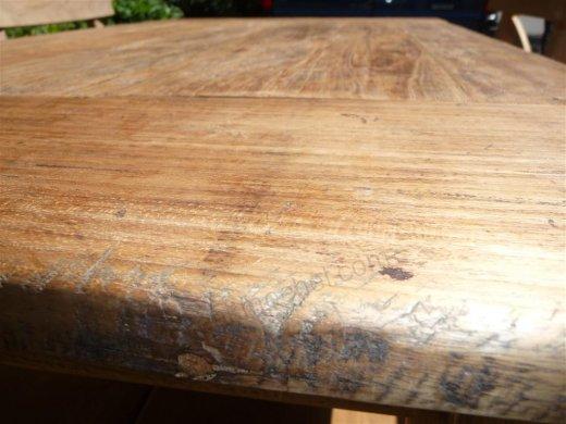 Teak Tisch aus altem Holz 120 x 80 cm - Bild 6