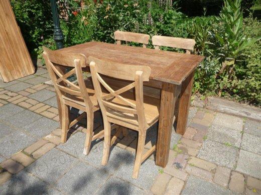 Teak Tisch aus altem Holz 120 x 80 cm - Bild 17
