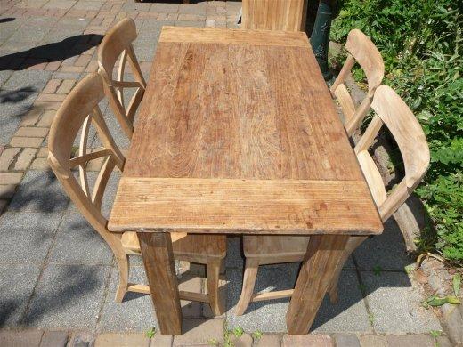 Teak Tisch aus altem Holz 120 x 80 cm - Bild 1