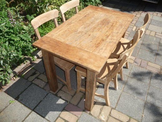Teak Tisch aus altem Holz 120 x 80 cm - Bild 18