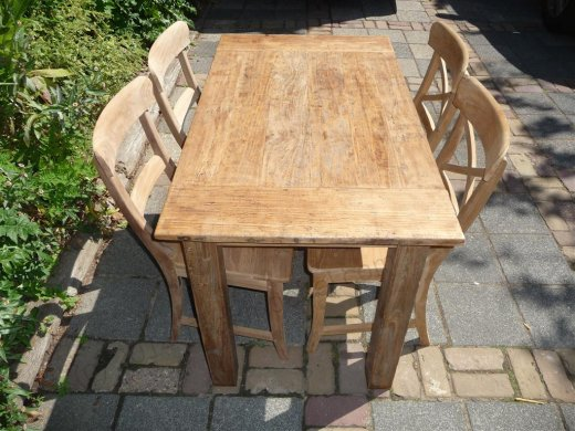 Teak Tisch aus altem Holz 120 x 80 cm - Bild 19