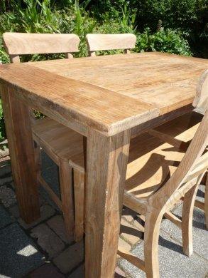 Teak Tisch aus altem Holz 120 x 80 cm - Bild 14