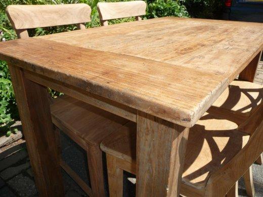 Teak Tisch aus altem Holz 120 x 80 cm - Bild 10