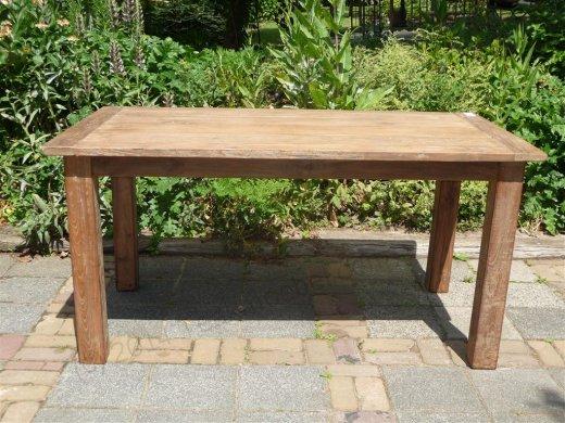 Teak Tisch aus altem Holz 140 x 90 cm - Bild 2