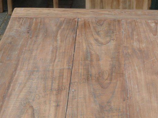 Teak Tisch aus altem Holz 140 x 90 cm - Bild 15