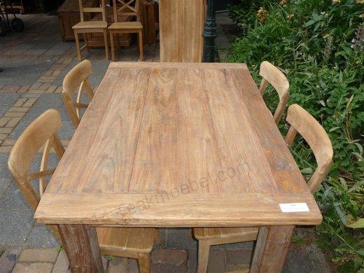Teak Tisch aus altem Holz 140 x 90 cm - Bild 6