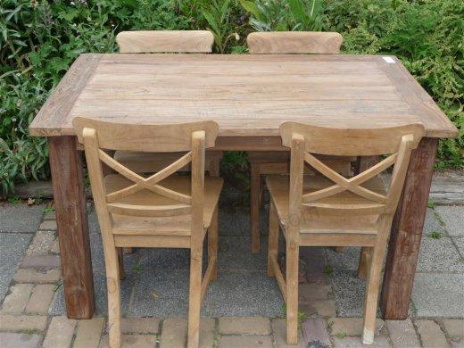 Teak Tisch aus altem Holz 140 x 90 cm - Bild 4