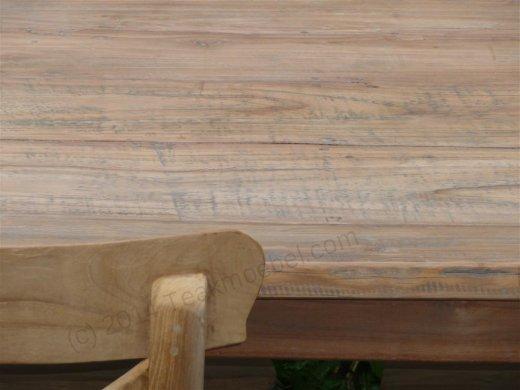 Teak Tisch aus altem Holz 140 x 90 cm - Bild 7