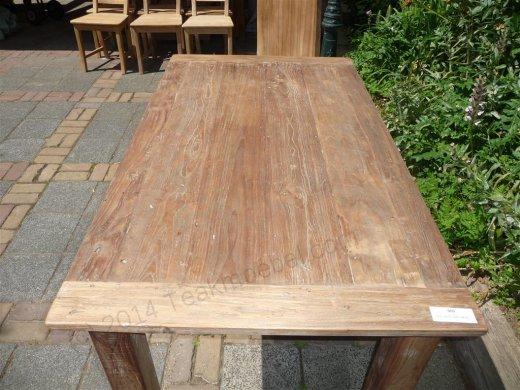 Teak Tisch aus altem Holz 140 x 90 cm - Bild 0