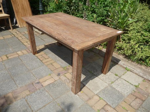 Teak Tisch aus altem Holz 140 x 90 cm - Bild 10