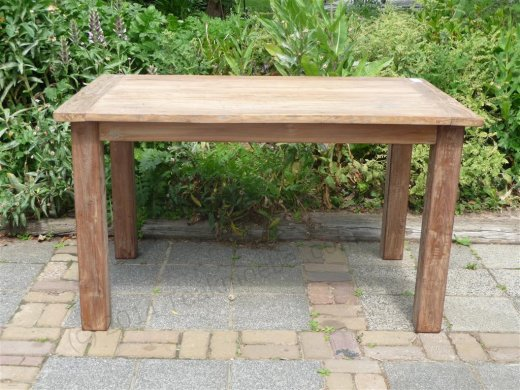 Teak Tisch aus altem Holz 140 x 90 cm - Bild 12