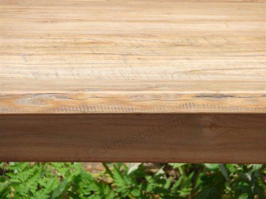 Teak Tisch aus altem Holz 140 x 90 cm - Bild 13