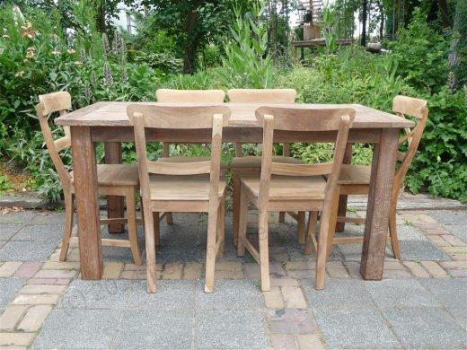 Teak Tisch aus altem Holz 160 x 90 cm - Bild 1