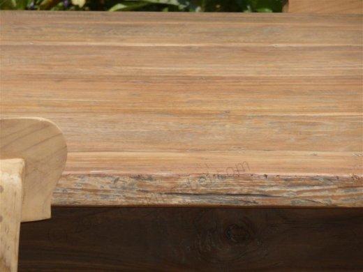 Teak Tisch aus altem Holz 160 x 90 cm - Bild 9