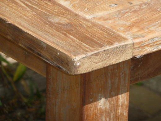 Teak Tisch aus altem Holz 160 x 90 cm - Bild 10