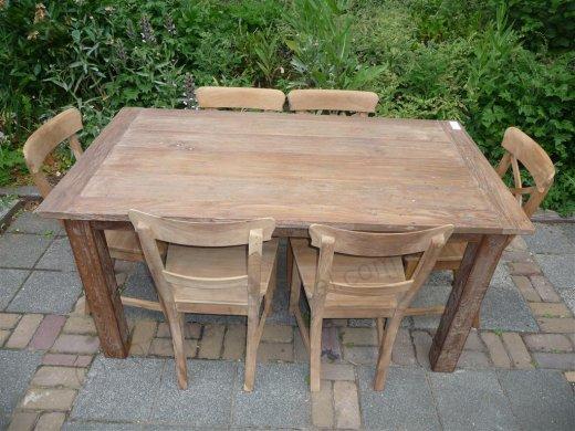 Teak Tisch aus altem Holz 160 x 90 cm - Bild 13