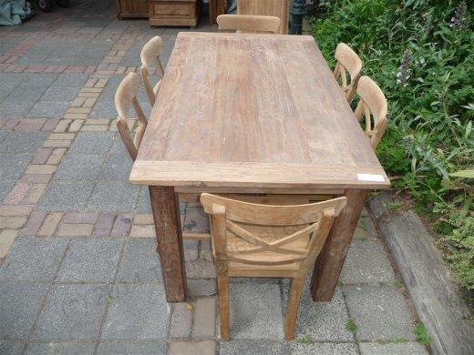 Teak Tisch aus altem Holz 160 x 90 cm - Bild 14