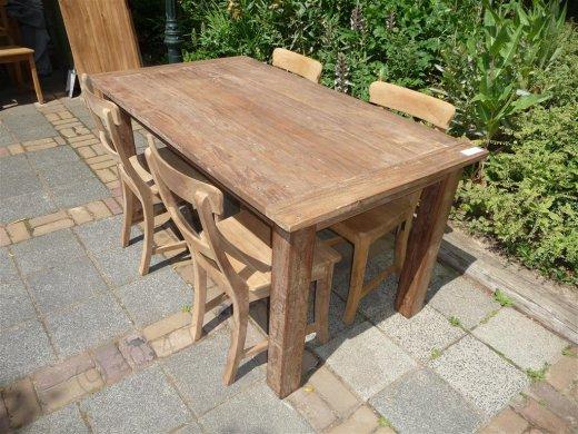 Teak Tisch aus altem Holz 160 x 90 cm - Bild 15