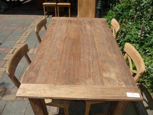 Teak Tisch aus altem Holz 160 x 90 cm - Bild 11