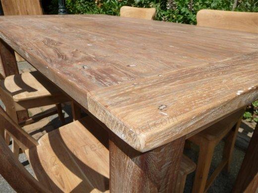 Teak Tisch aus altem Holz 160 x 90 cm - Bild 7