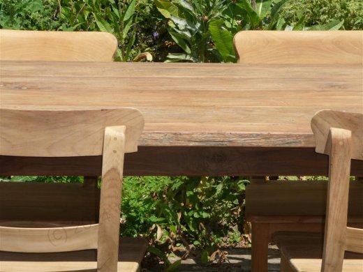 Teak Tisch aus altem Holz 160 x 90 cm - Bild 8