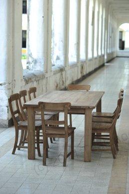 Teak Tisch aus altem Holz 200 x 100 cm - Bild 5