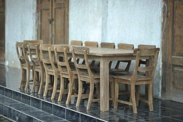 Teak Tisch altes Holz 300 x 100 cm - Bild 14
