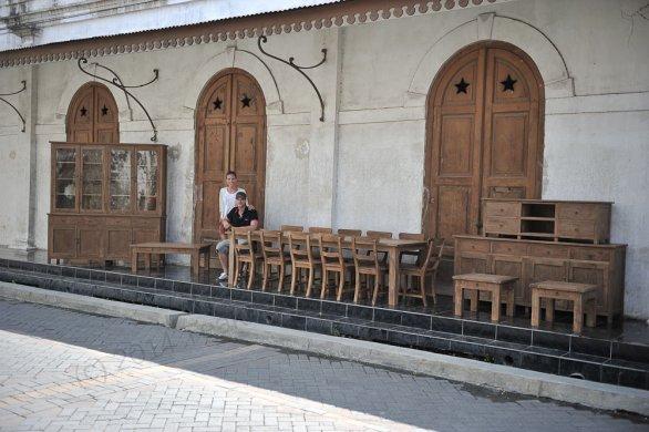 Teak Tisch altes Holz 300 x 100 cm - Bild 22