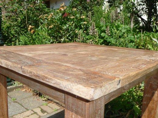 Teak Tisch altes Holz 80 x 80 cm - Bild 7