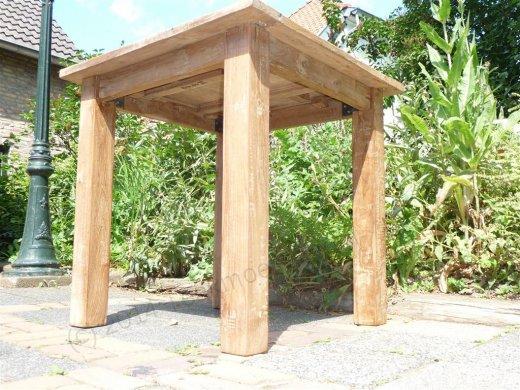 Teak Tisch altes Holz 80 x 80 cm - Bild 2