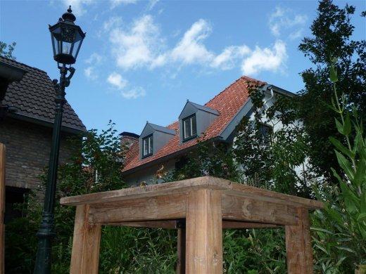 Teak Tisch altes Holz 80 x 80 cm - Bild 10