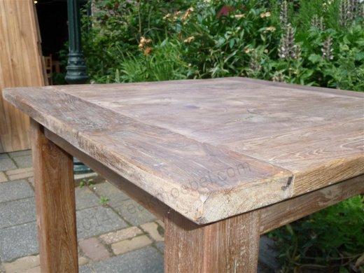 Teak Tisch altes Holz 80 x 80 cm - Bild 11