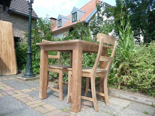 Teak Tisch altes Holz 80 x 80 cm - Bild 6