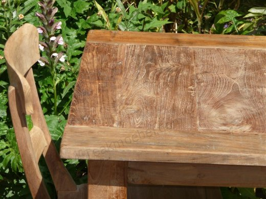 Teak Tisch altes Holz 80 x 80 cm - Bild 16