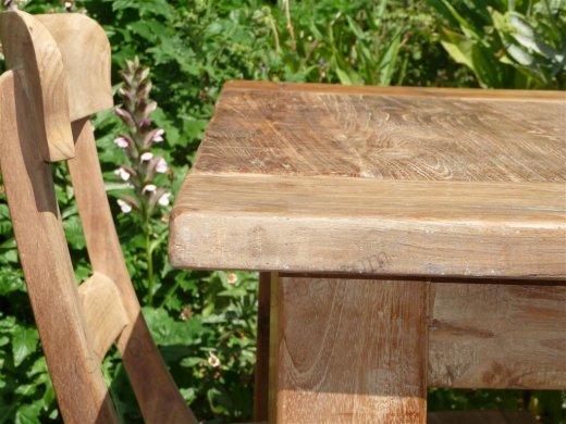 Teak Tisch altes Holz 80 x 80 cm - Bild 13
