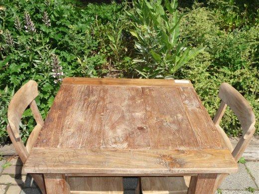 Teak Tisch altes Holz 80 x 80 cm - Bild 8