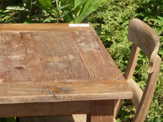 teak tisch altes holz 80 x 80 cm teakm. Black Bedroom Furniture Sets. Home Design Ideas