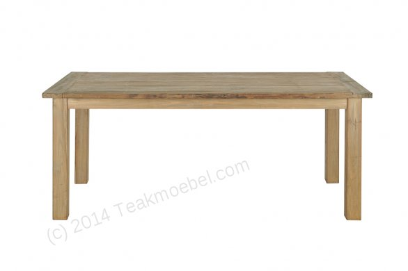 Teak Tisch aus altem Holz 200 x 100 cm - Bild 2