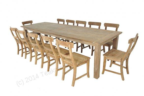 Teak Tisch altes Holz 300 x 100 cm - Bild 16