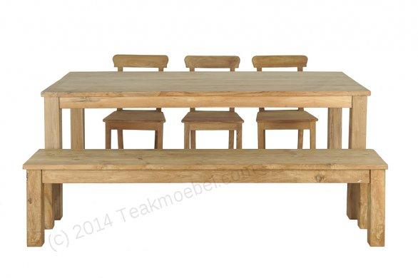 Teak Tisch 200 x 100 cm - Bild 0