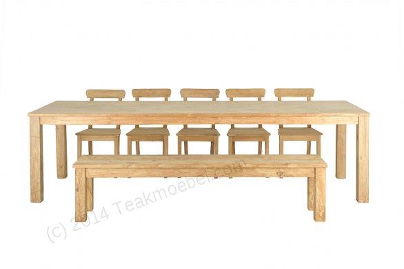 Teak Tisch 300 x 100 cm - Bild 6