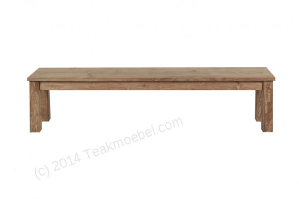 Teak Tisch 200x100cm + Bank 200cm + 5 Stuehle - Bild 3