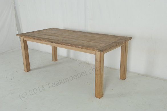 Teak Tisch aus altem Holz 200 x 90 cm - Bild 6